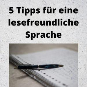 5 Tipps für eine lesefreundliche Sprache